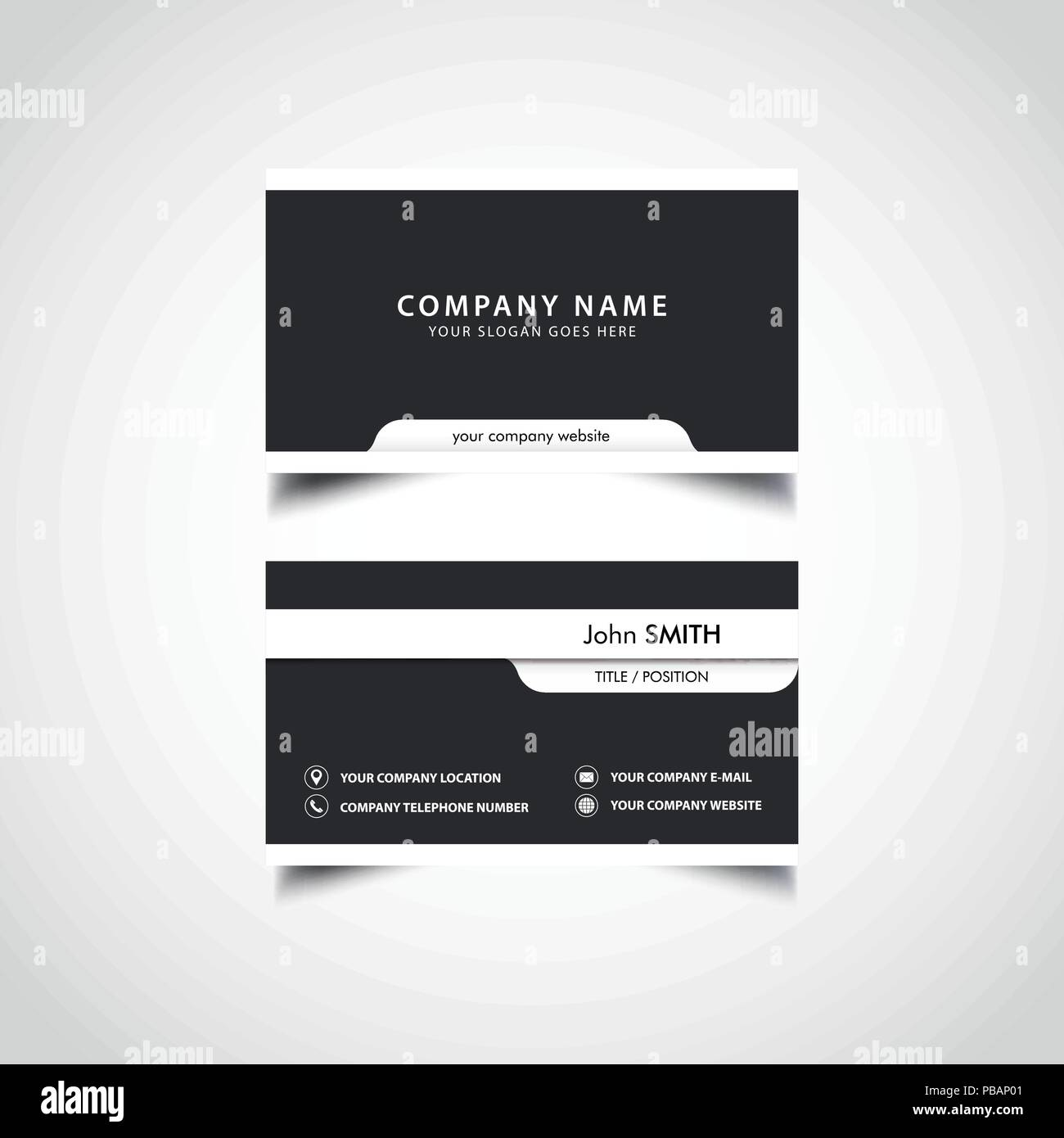 Simple business card template stock vector art illustration simple business card template friedricerecipe Image collections