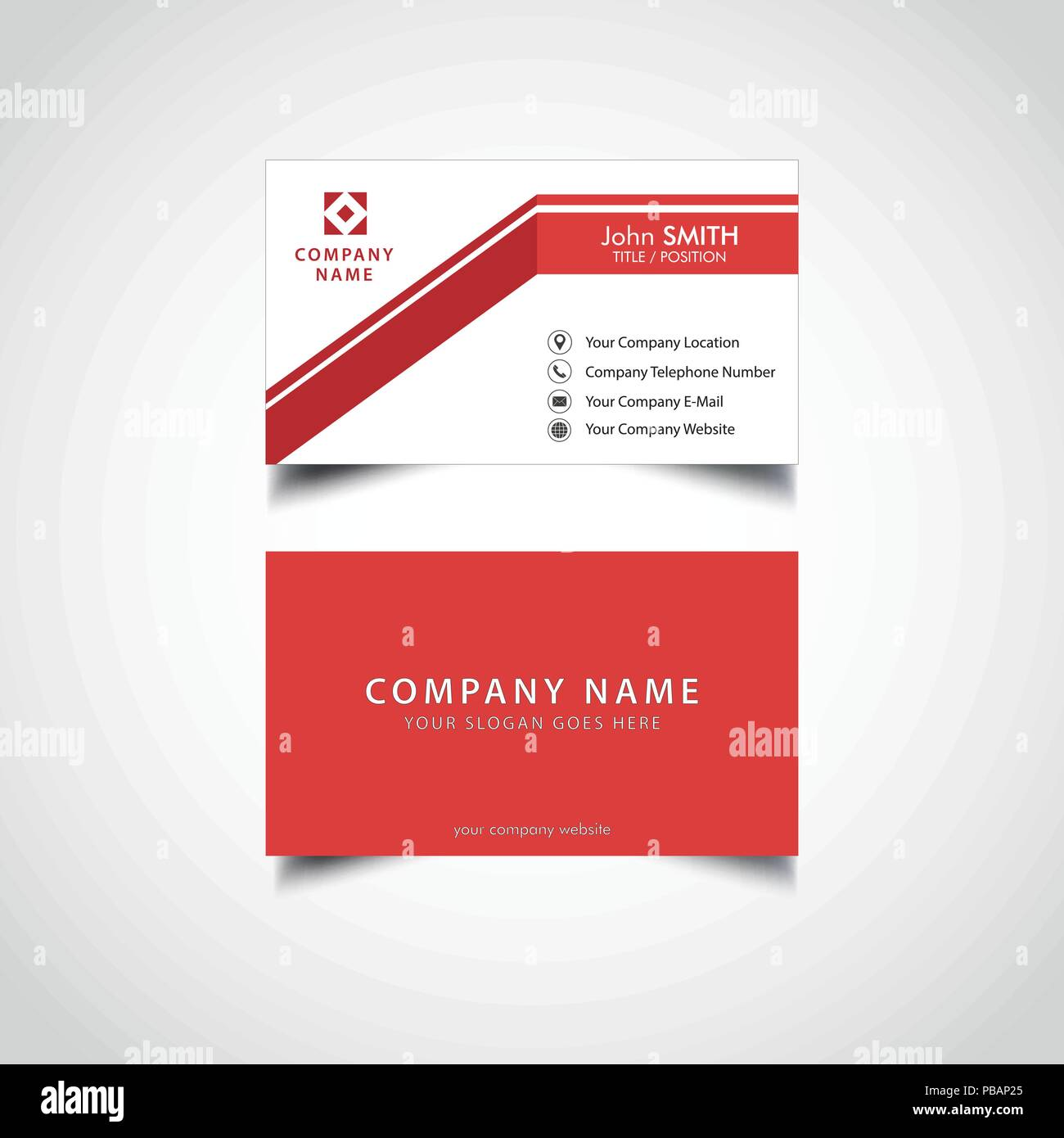 Simple business card template stock vector art illustration simple business card template flashek Gallery