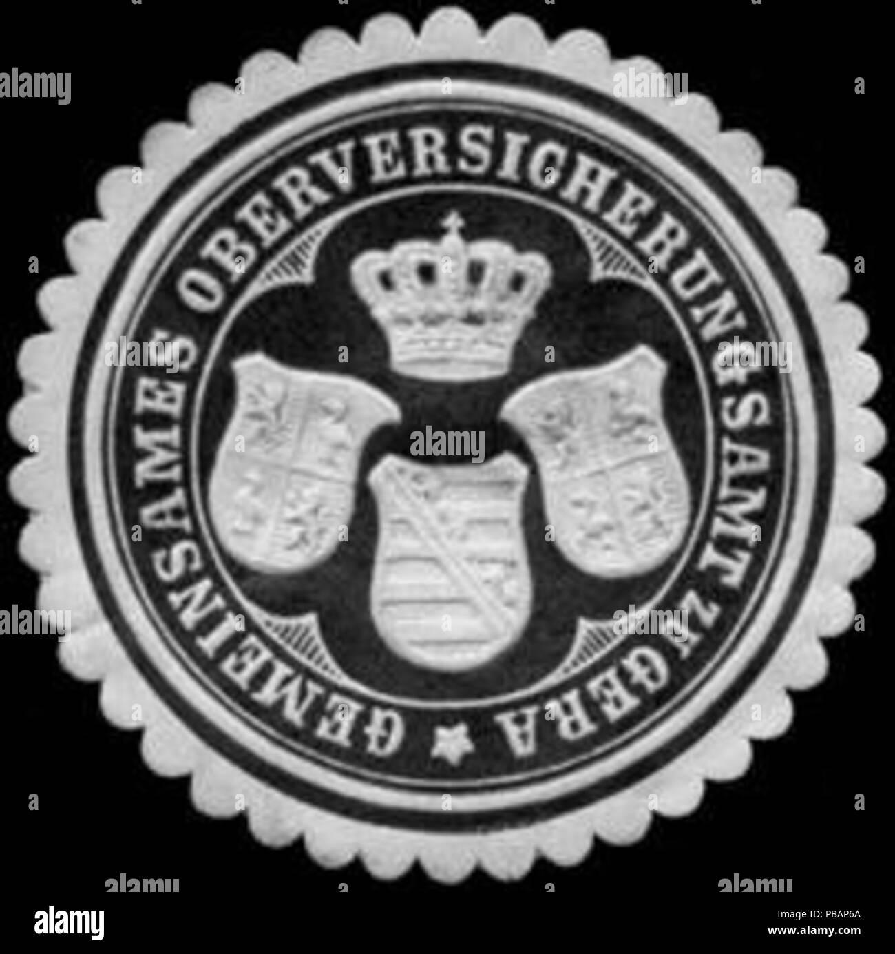 1390 Siegelmarke Gemeinsames Oberversicherungsamt zu Gera W0255869 Stock Photo