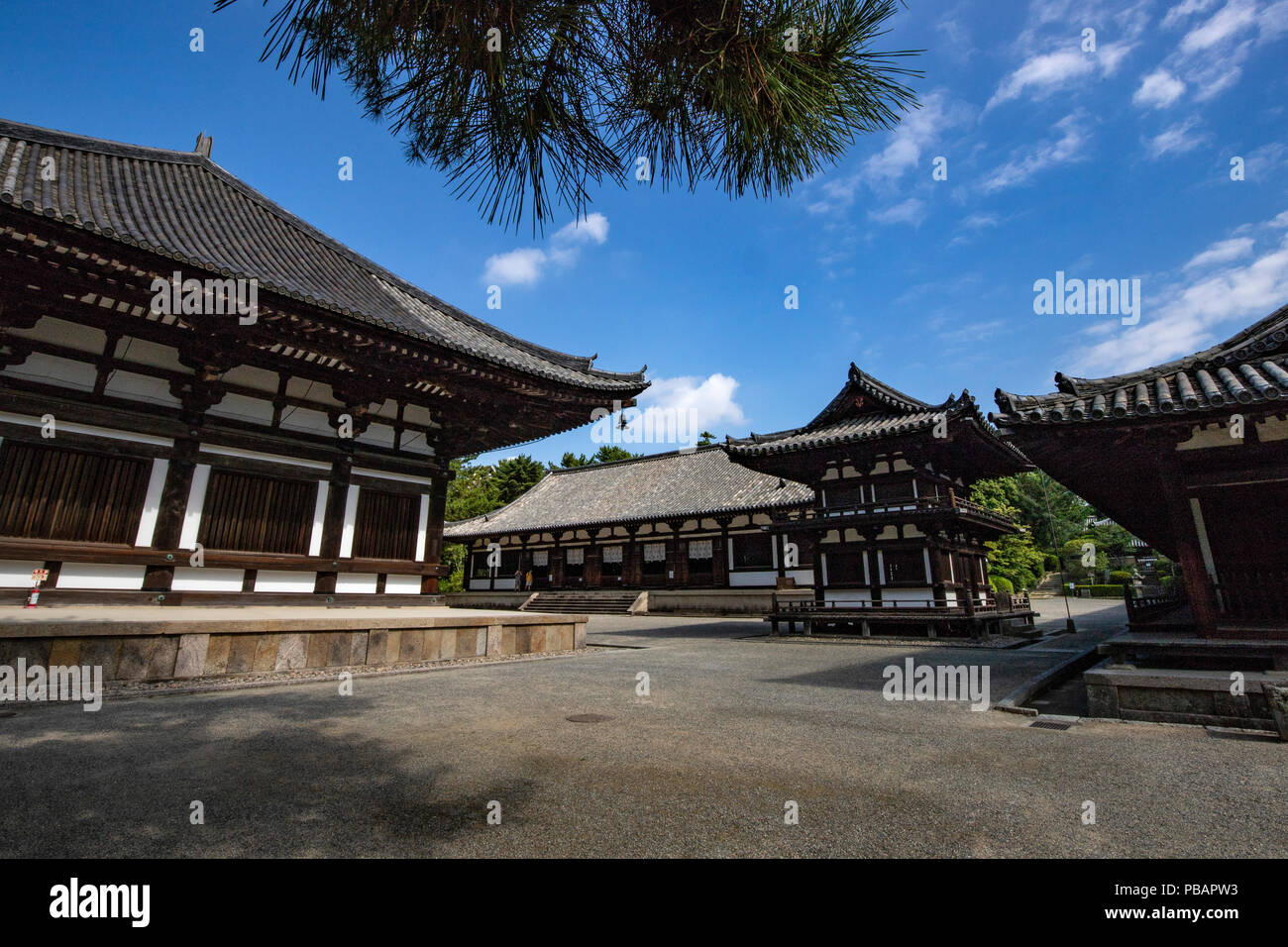 Toshodai-ji Temple was founded by Ganjin - a Chinese priest invited to Japan by the emperor to train priests and teach Buddhism so its influence propa - Stock Image