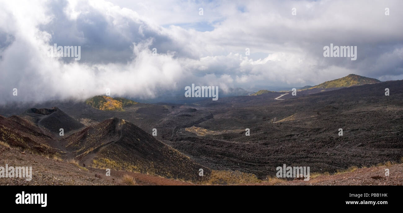 Lava Fields of Etna - Stock Image