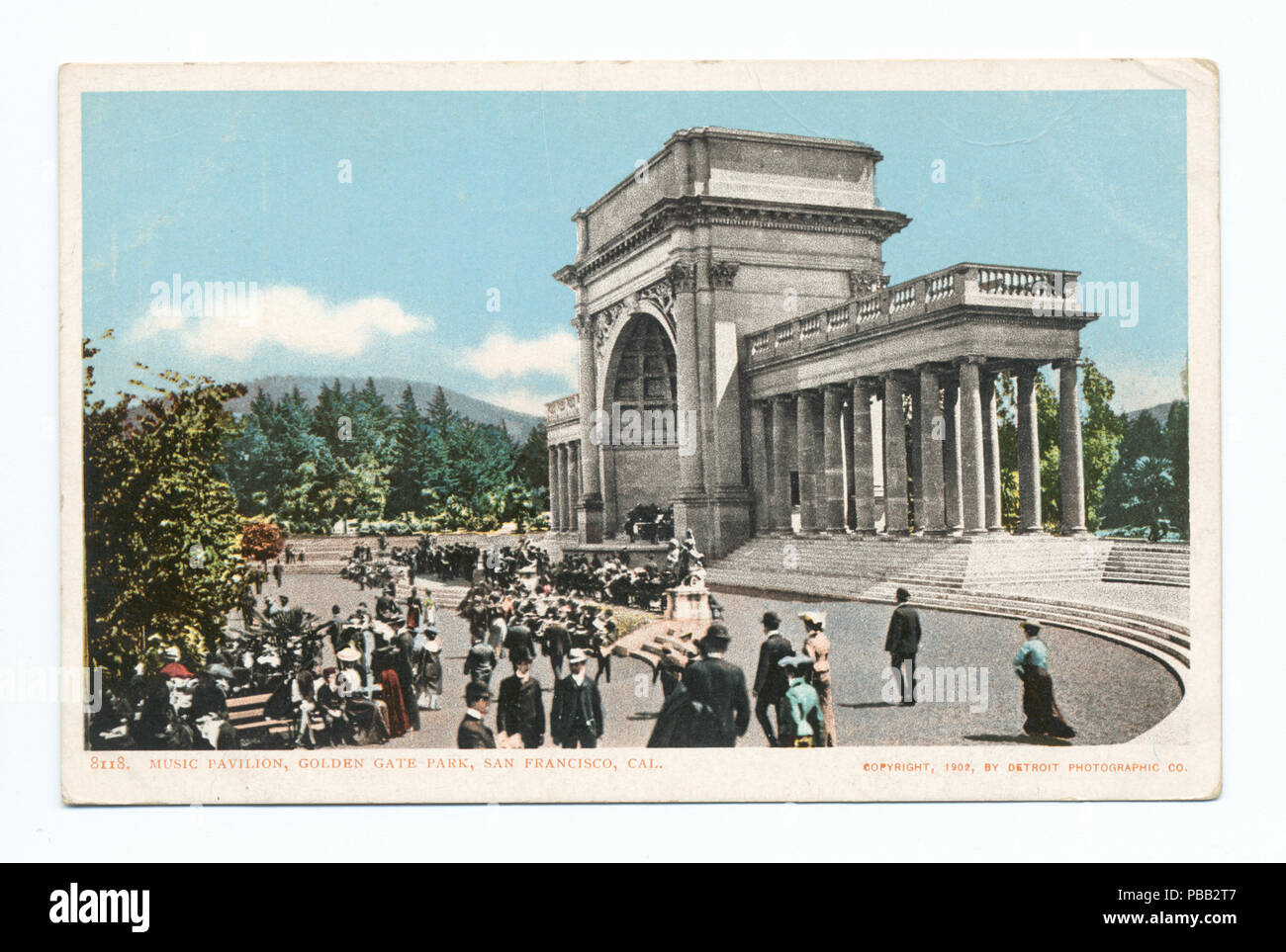 1072 Music Pavilion, Golden Gate Park, San Francisco, Calif (NYPL b12647398-67566) - Stock Image