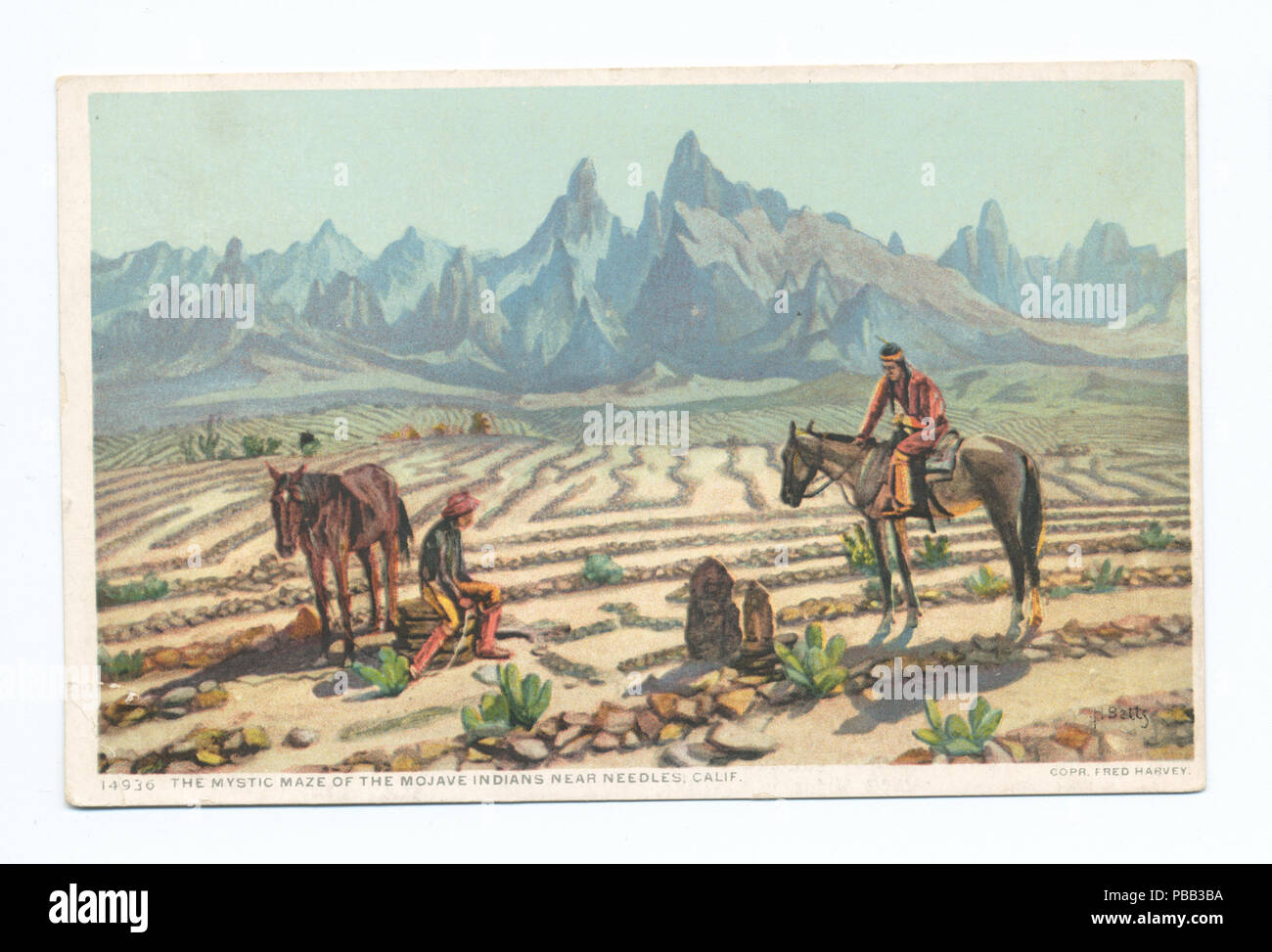 1078 Mystic Maze of the Mojave Indians, Needles, Calif (NYPL b12647398-70470) - Stock Image
