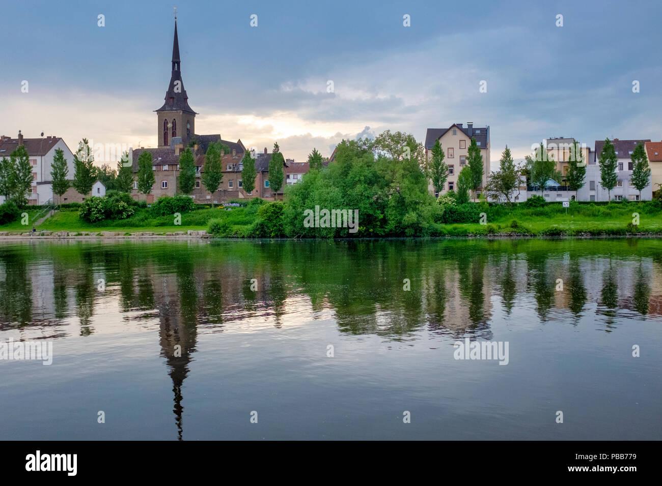 Fechenheim, Frankfurt am Main, Germany - Stock Image