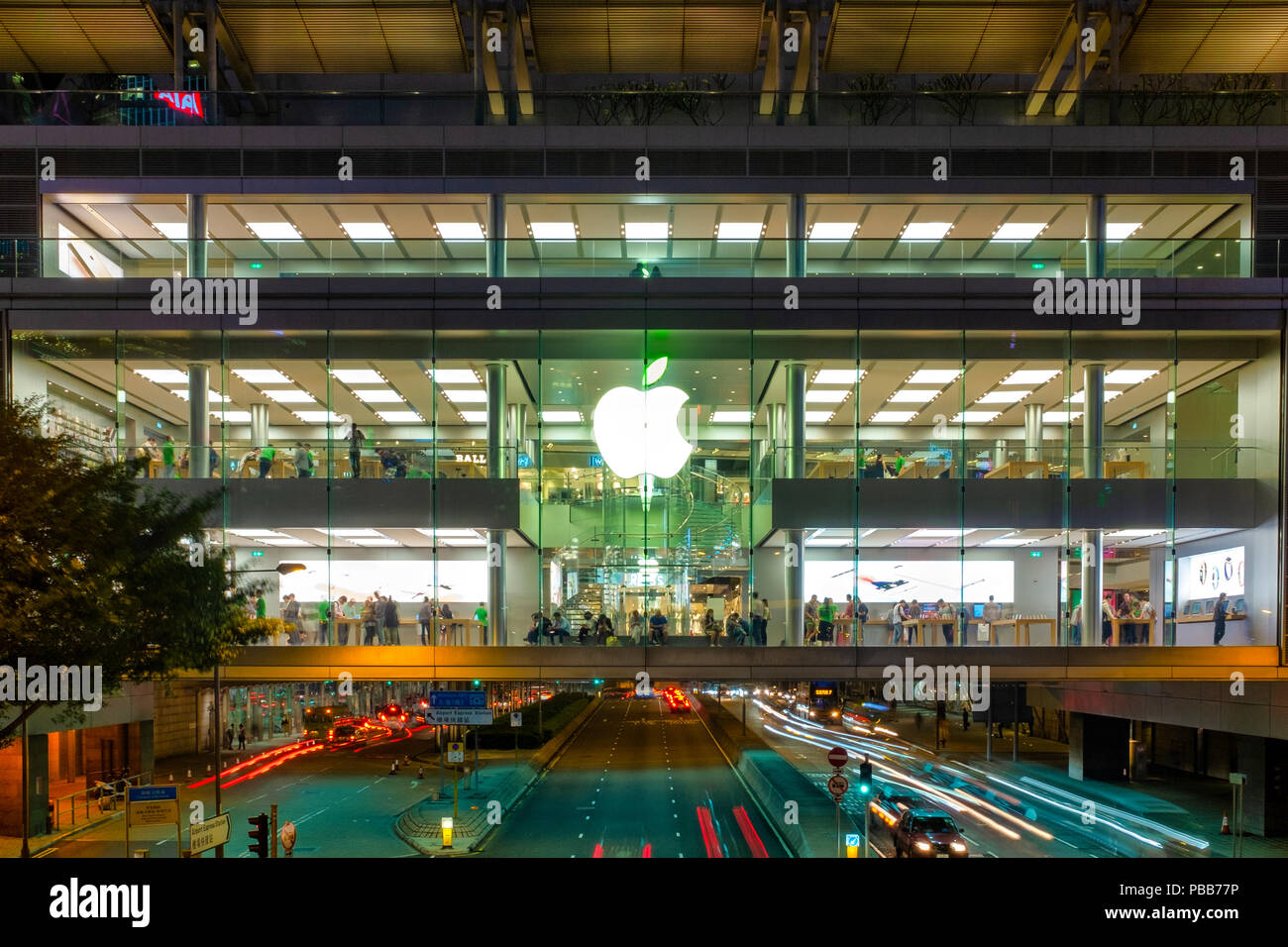 Apple store in the International Finance Centre Mall, Hong Kong Island, China Stock Photo