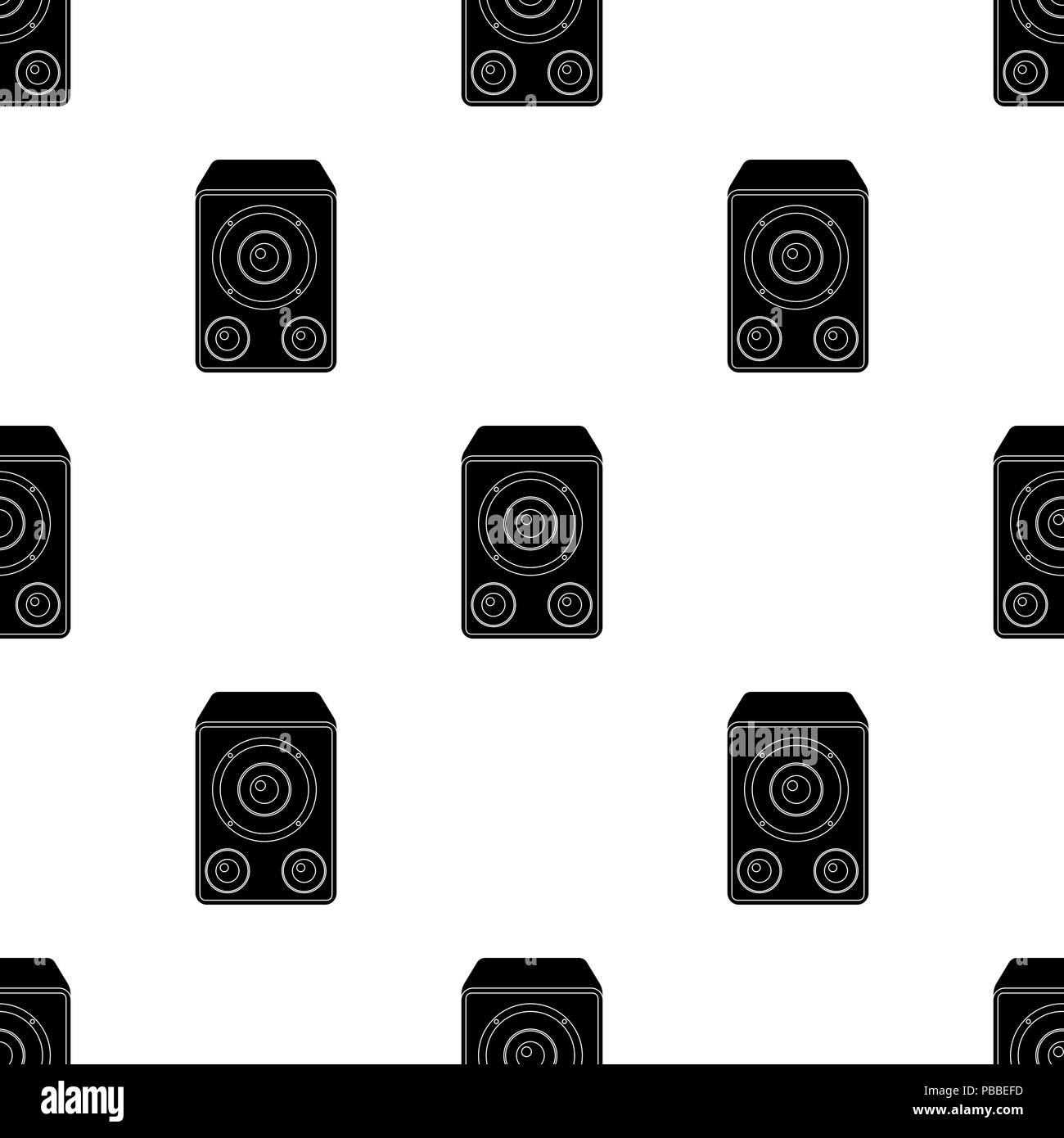 Subwoofer For Loud Musicrty And Parties Single Icon In Black