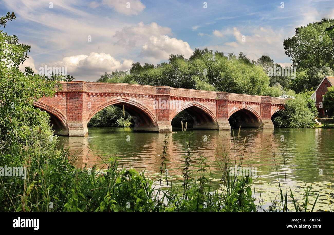 The River Thames at Clifton Hampden in England - Stock Image
