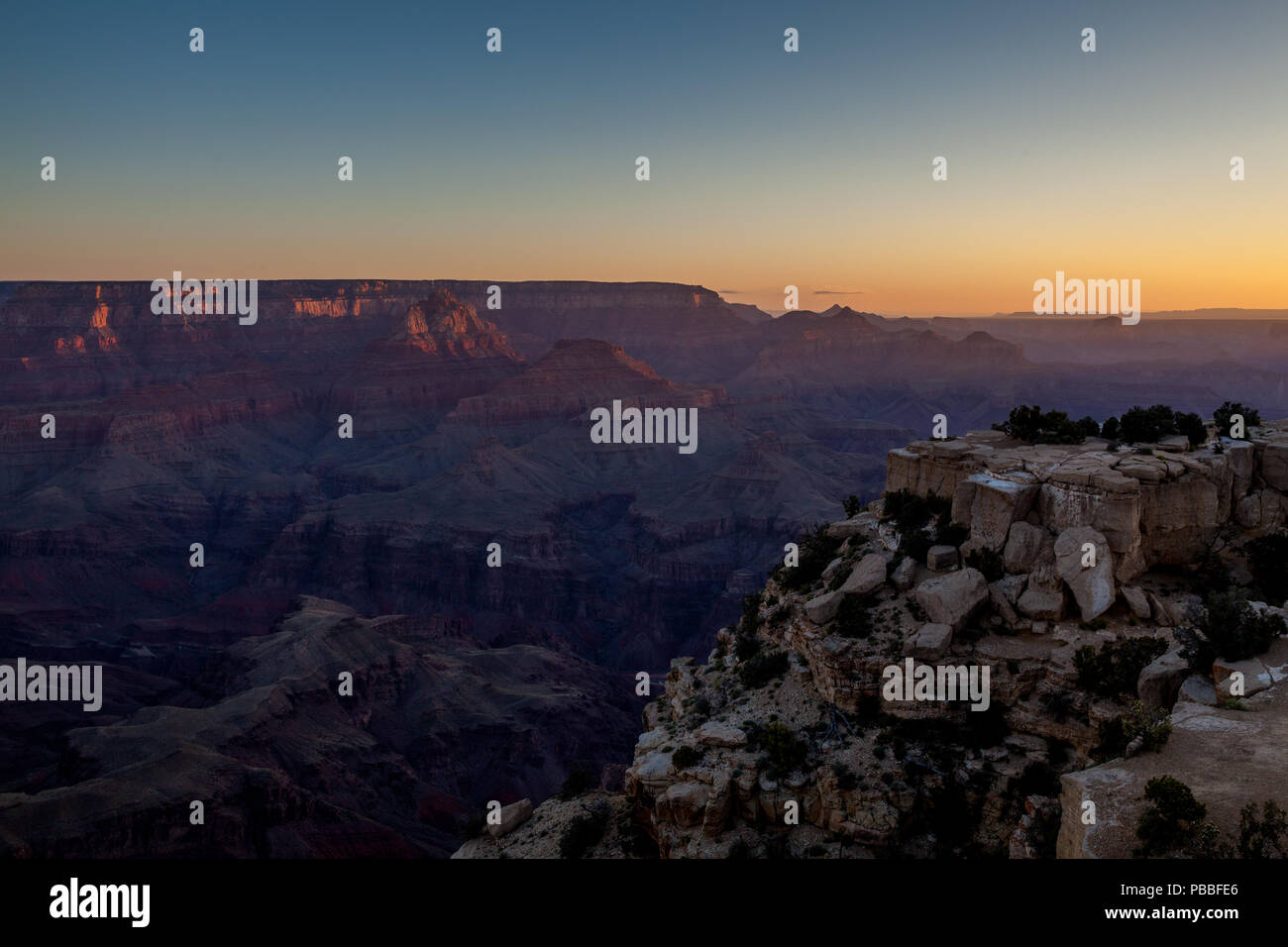 Sunrise @ Moran Point, Grand Canyon NP - Stock Image