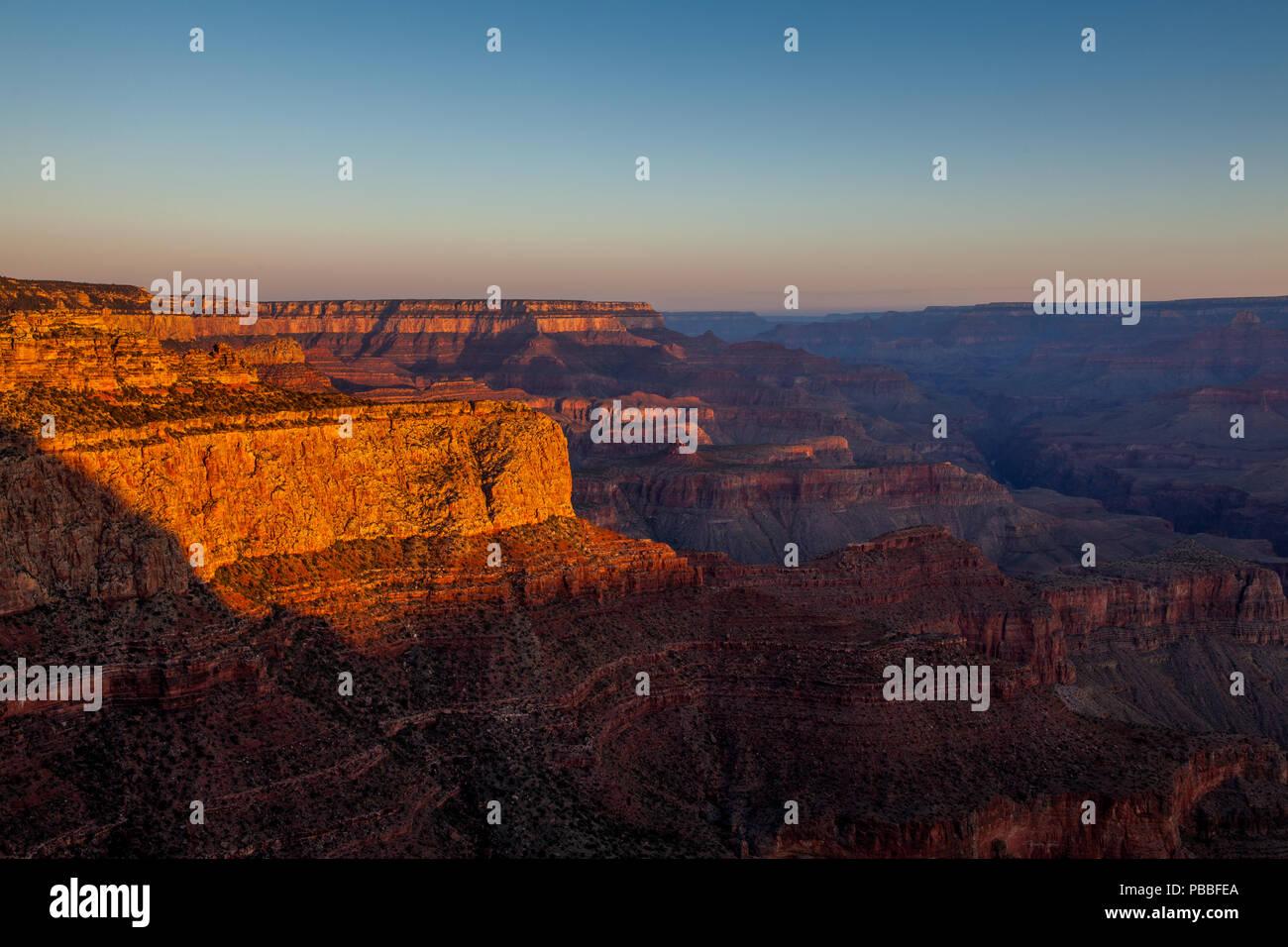 Sunrise @ Moran Point, Grand Canyon NP - Stock Image