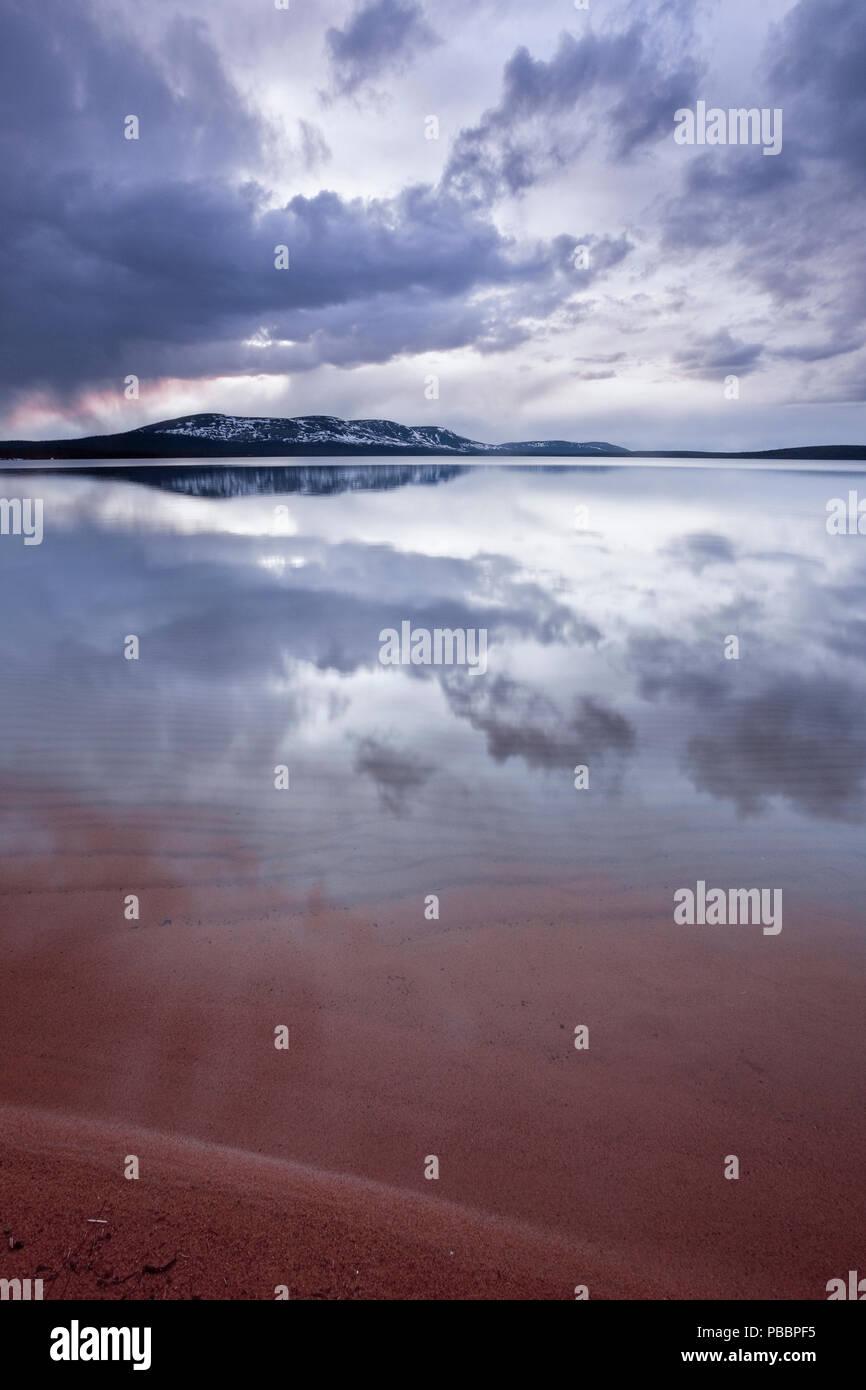Lake Pallasjärvi in Pallas-Yllästunturi National Park, Munio, Lapland, Finland - Stock Image