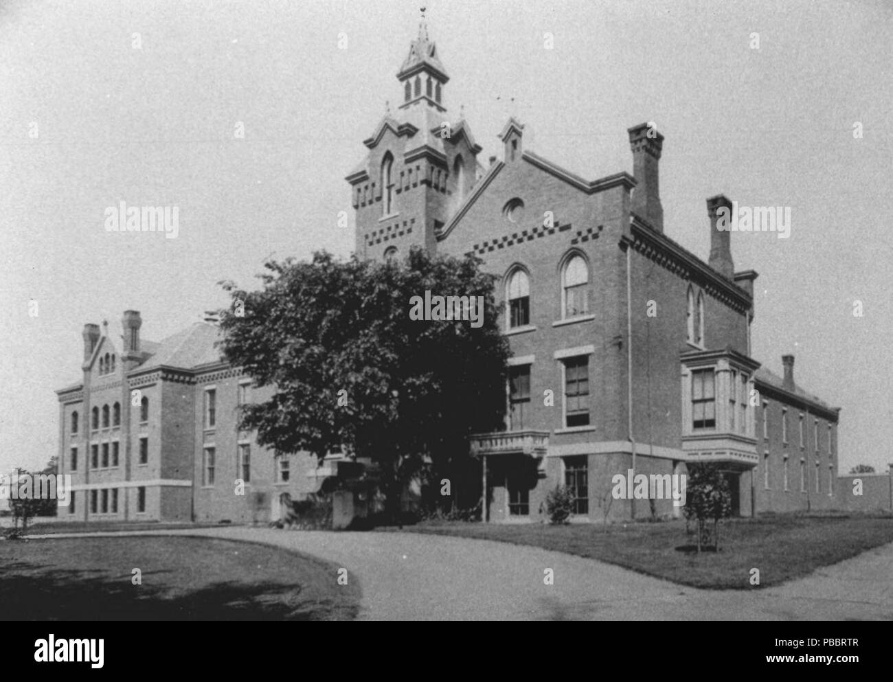 . English: The old Fairfield County Jail building, Bridgeport, Connecticut. This building has been demolished.   This is an image of a place or building that is listed on the National Register of Historic Places in the United States of America. Its reference number is 85000841  . circa 1890 1133 OldFairfieldCountyJail Stock Photo