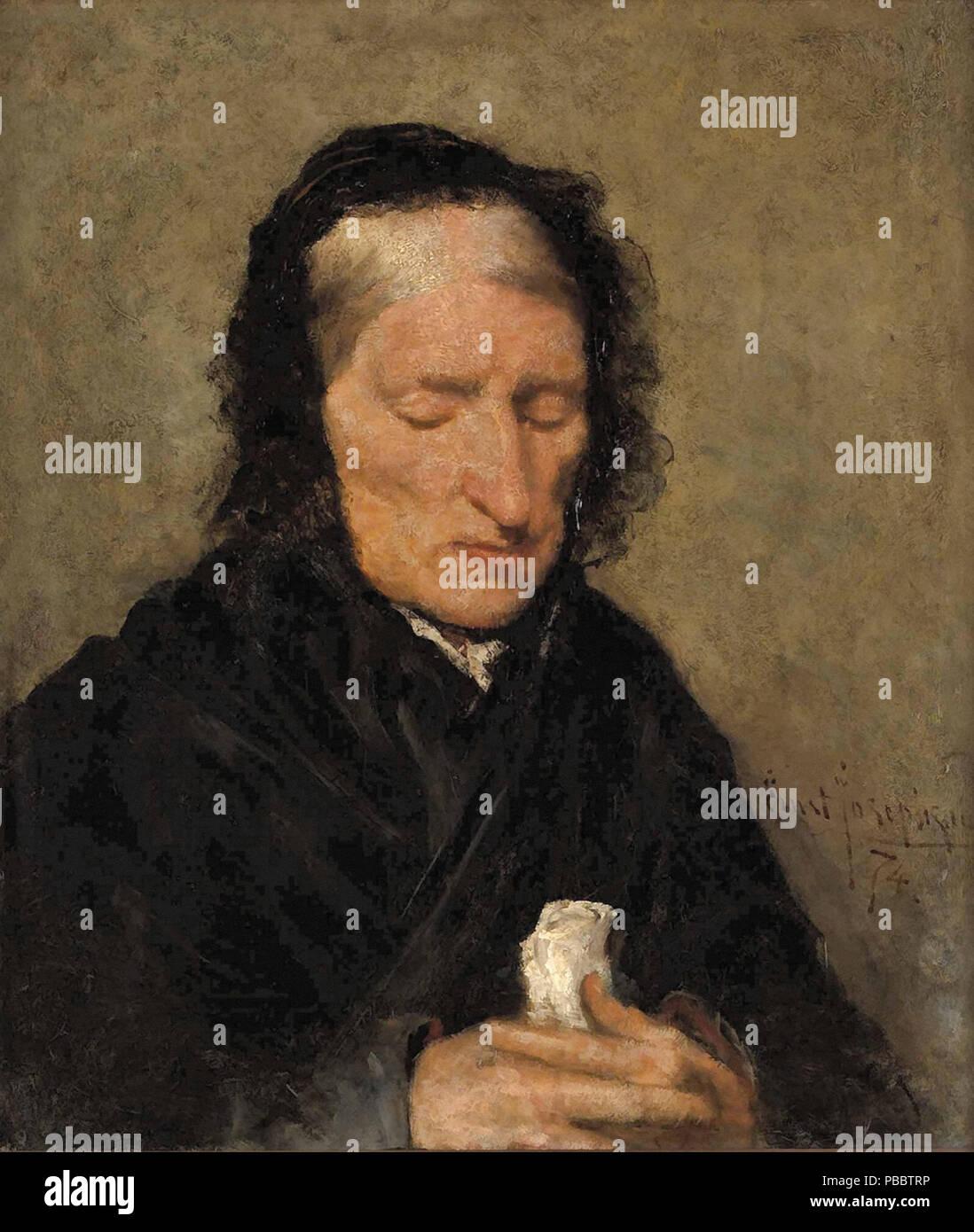 Josephson  Ernst - Gammal Kvinna 'andakt' - Stock Image