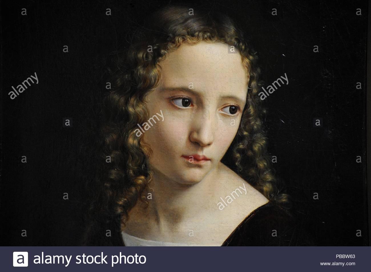 Louis Ammy Blanc (1810-1885). Pintor alemán. Retrato de una chica
