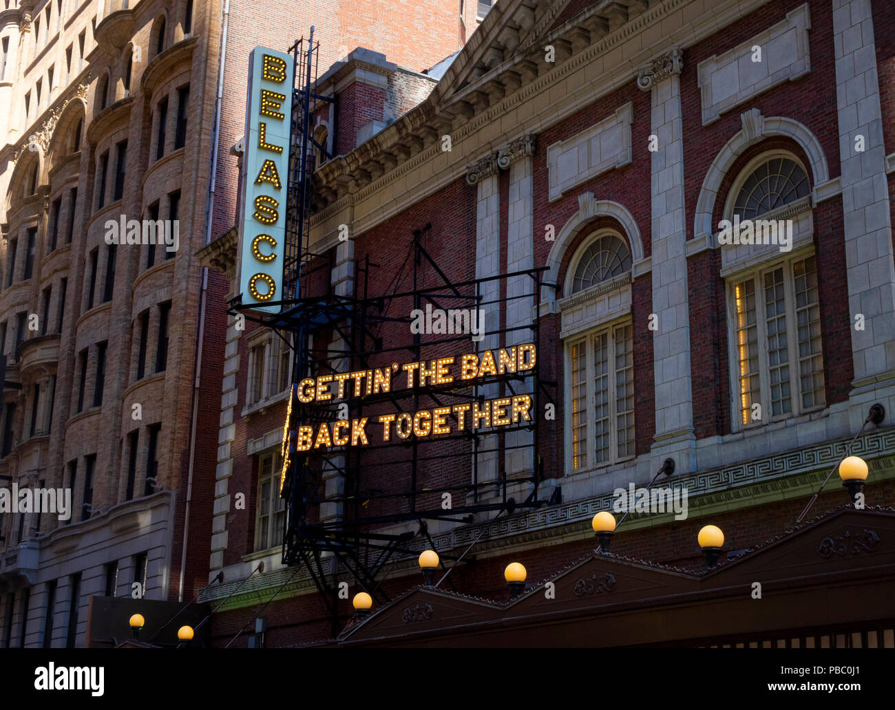 Gettin' the Band Back Together on Broadway, a musical at the Belasco Theatre - Stock Image