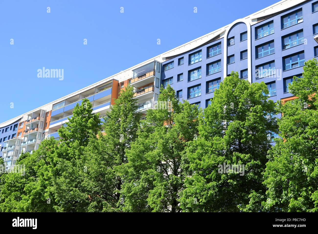 renovated residential building in the city center of Berlin Stock Photo