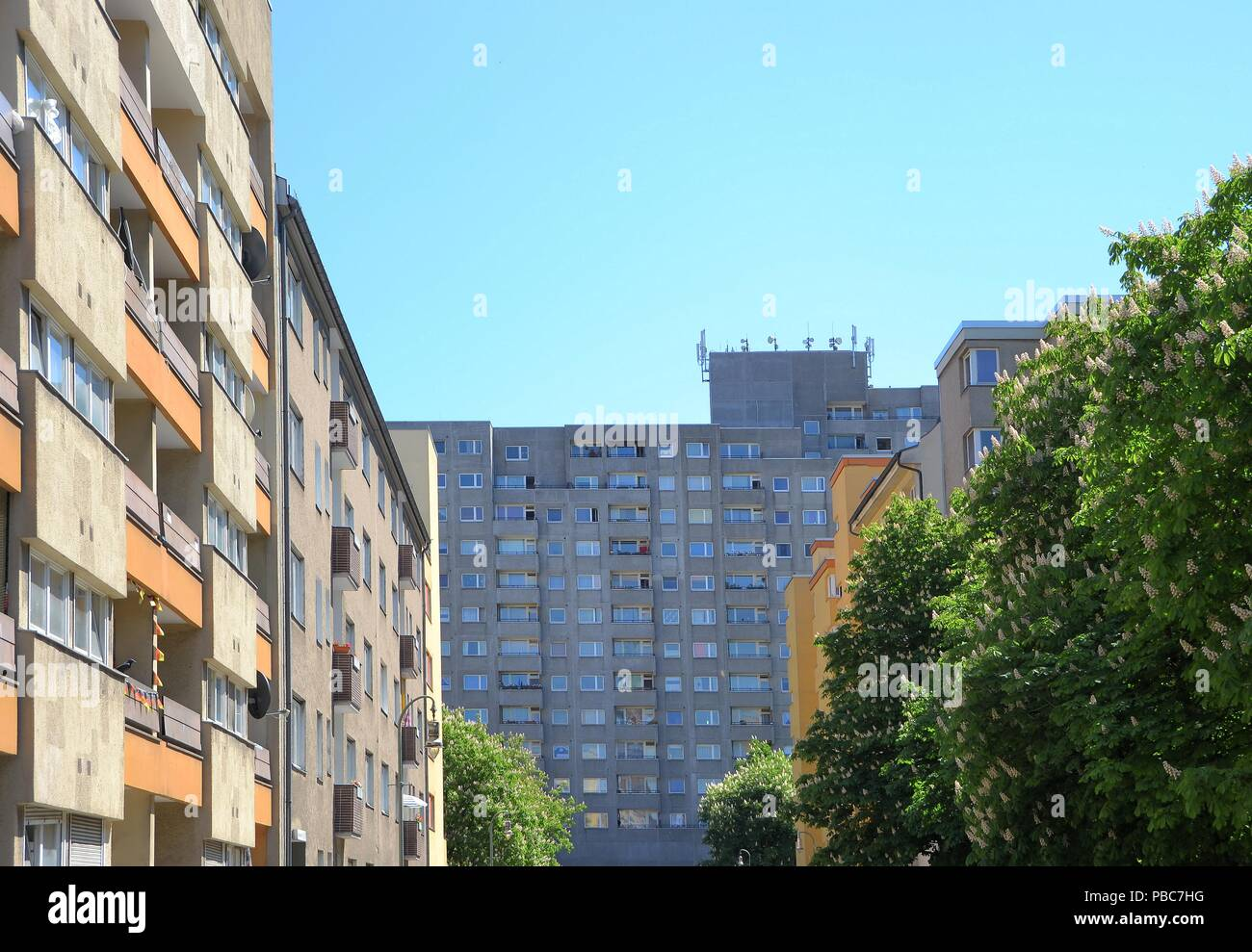 Social housing in the city center of Berlin Stock Photo