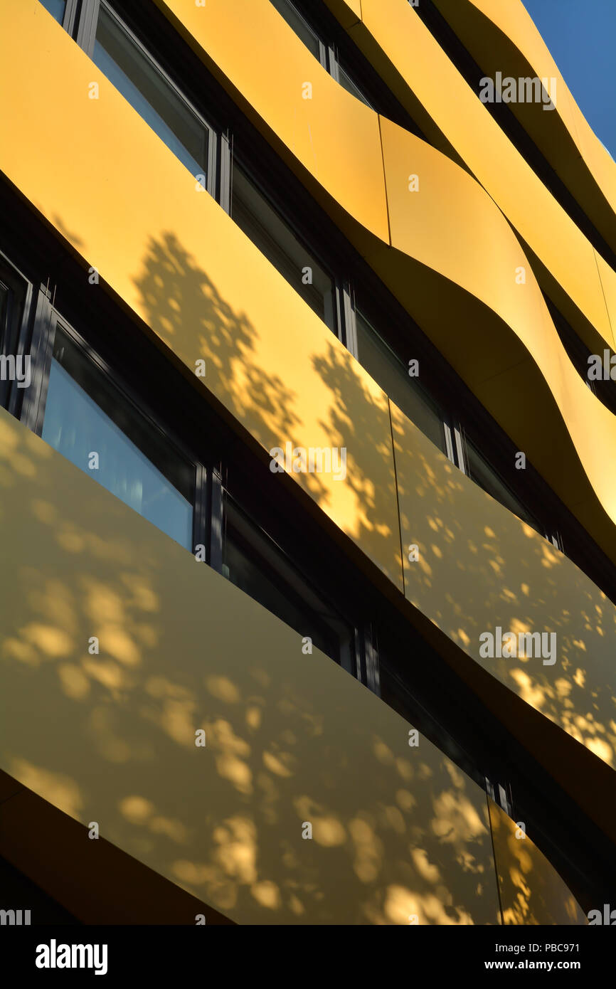Modern facade of a residential building in the city center of Berlin Stock Photo