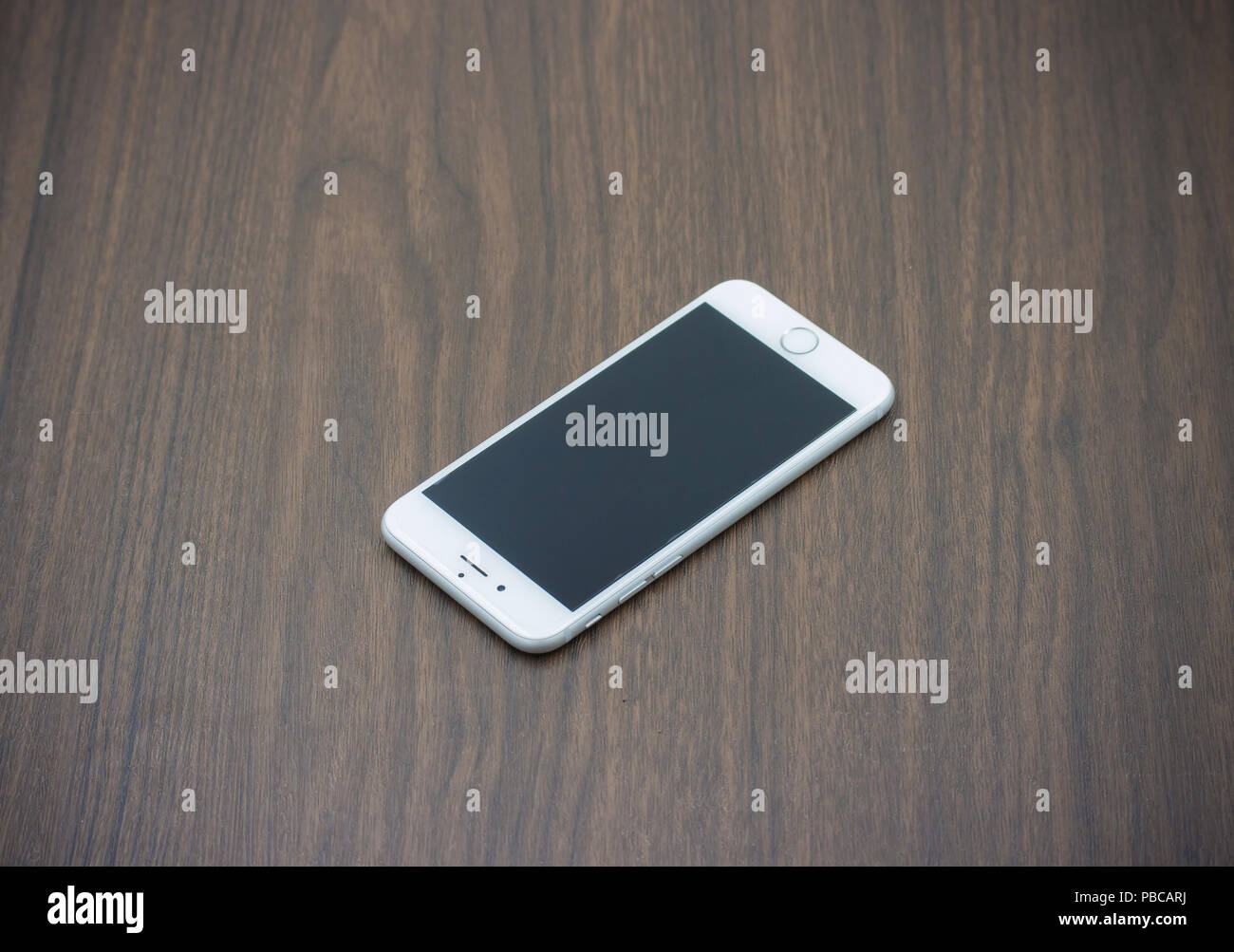 Bangkok Thailand May 7 2015 Apple Iphone 6 In White Color With