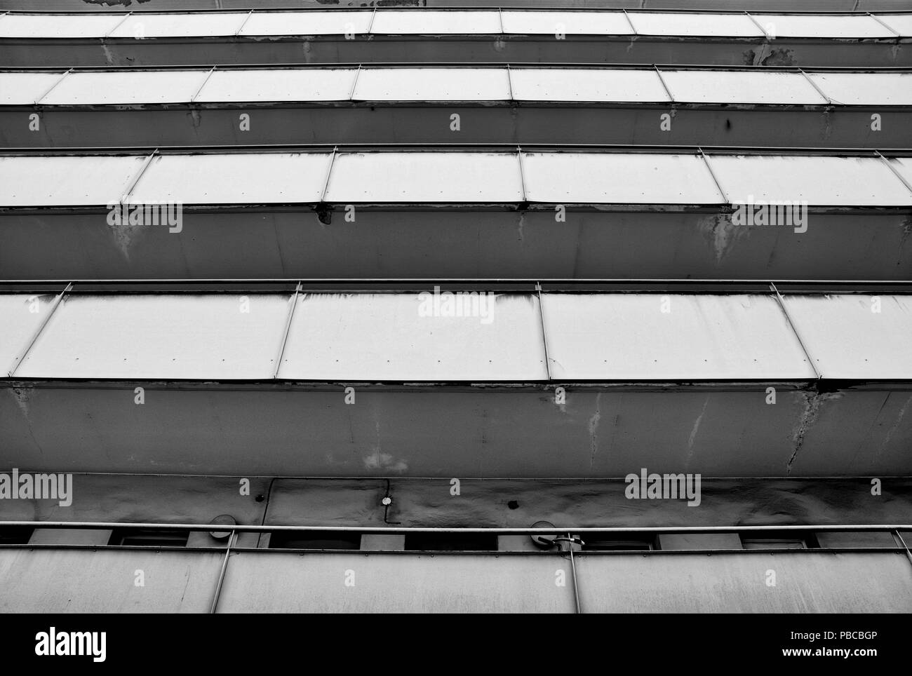 Balconies of a residential building in Berlin - Stock Image