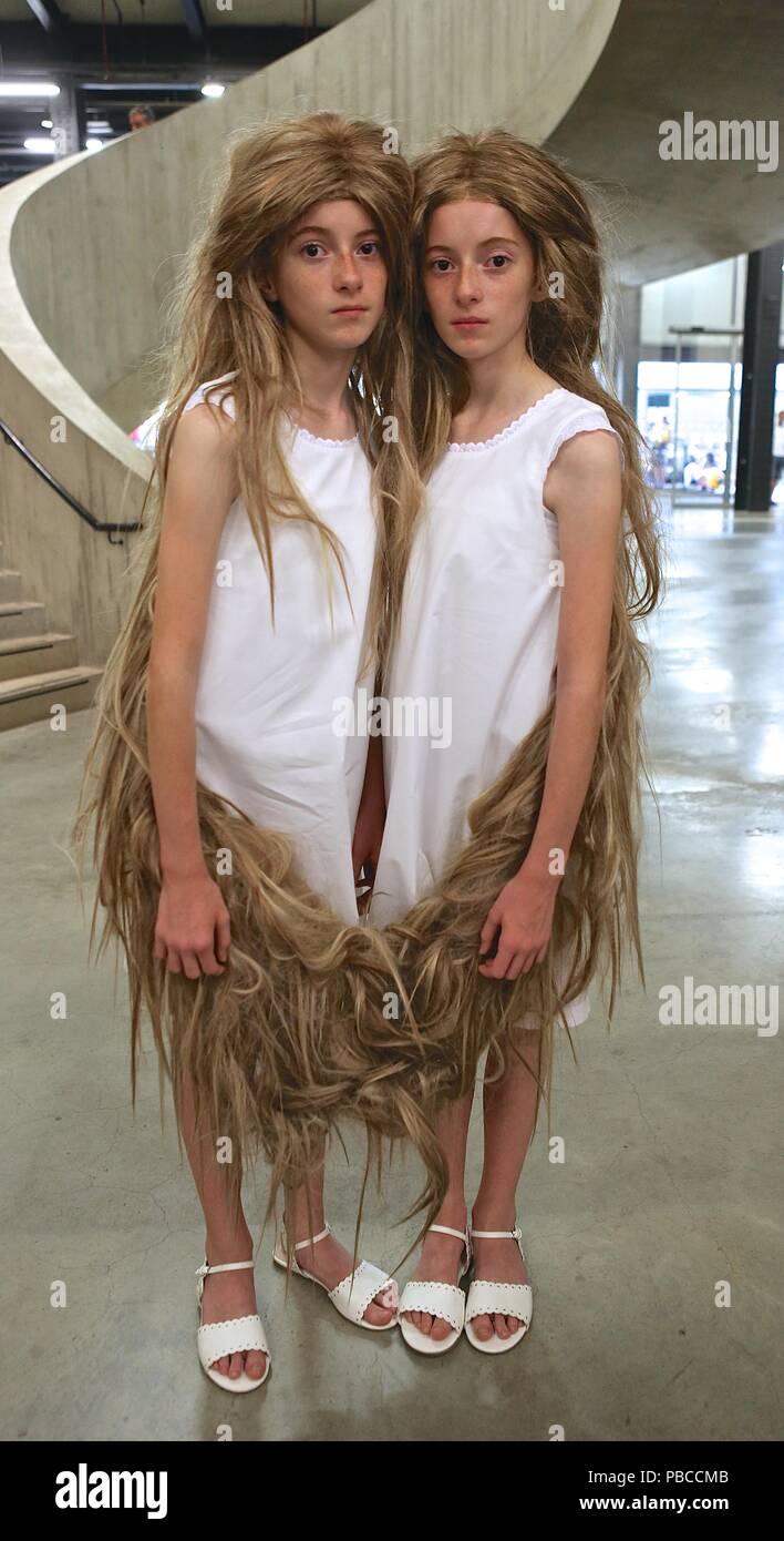 Tunga Twins at Tate Gallery Tate Modern - Stock Image