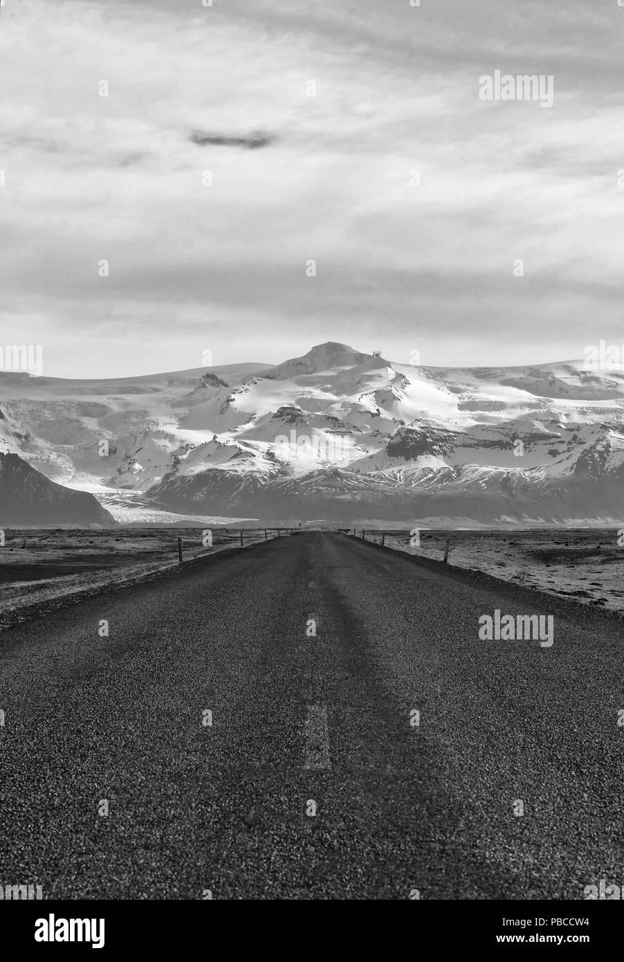 Icelandic Road - Stock Image