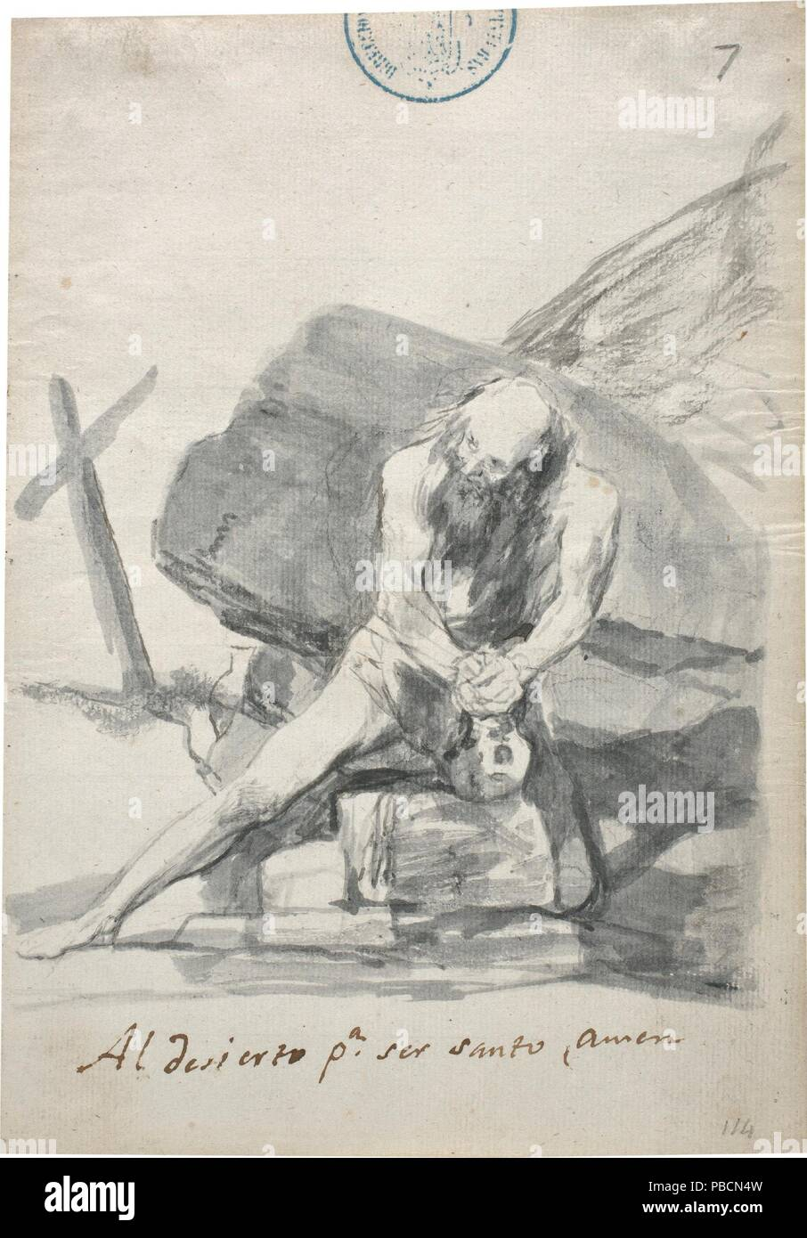 Francisco de Goya y Lucientes / 'To the desert to be a saint