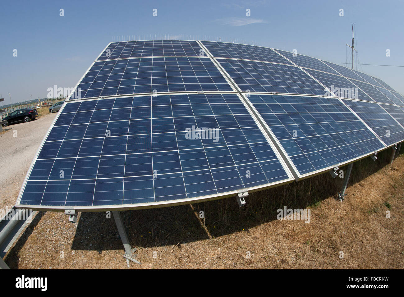 solar panel electricity supply - Stock Image