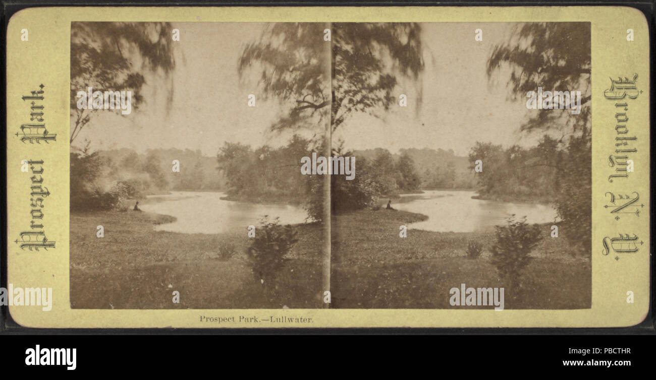 1232 Prospect Park, Lullwater, from Robert N. Dennis collection of stereoscopic views Stock Photo