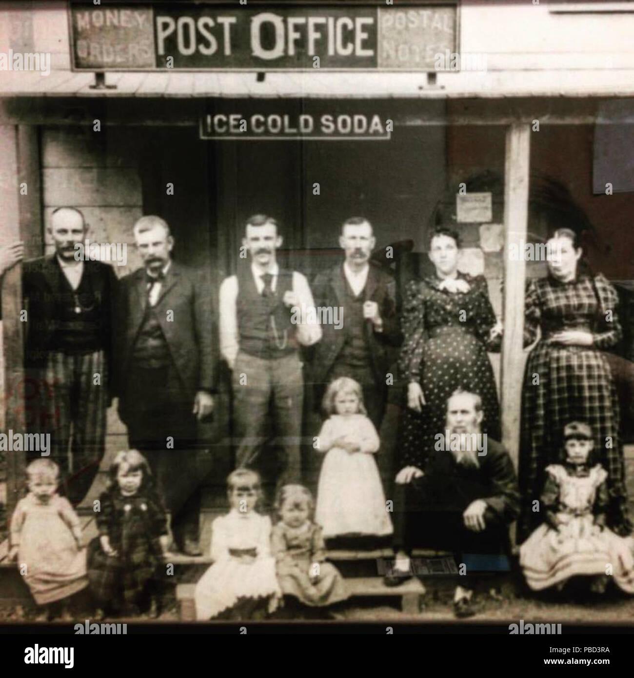 1283 Saint David Village, Fulton County, Illinois Post Office, in the year  1893