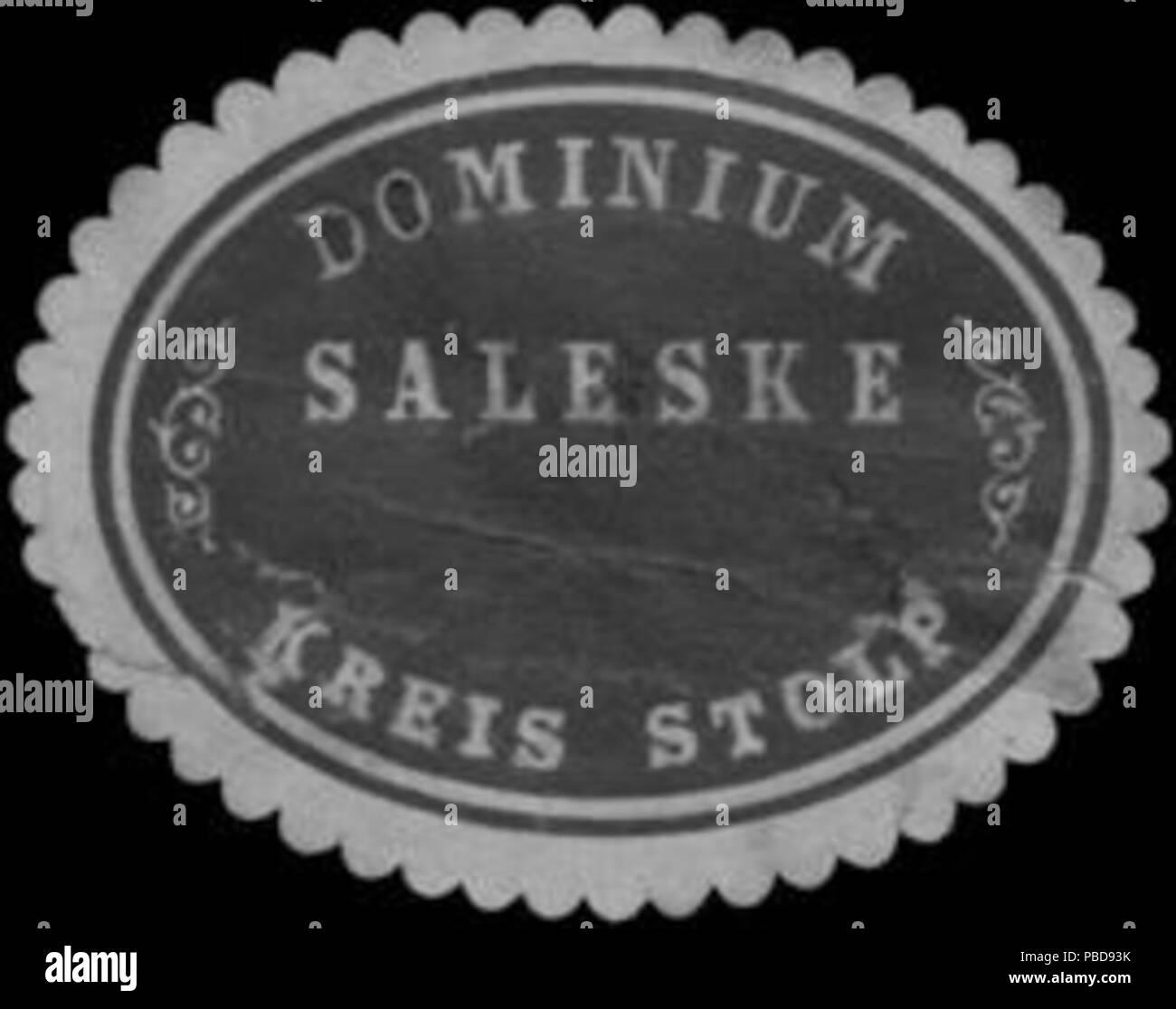 1352 Siegelmarke Dominium Saleske Kreis Stolp-Pommern W0383410