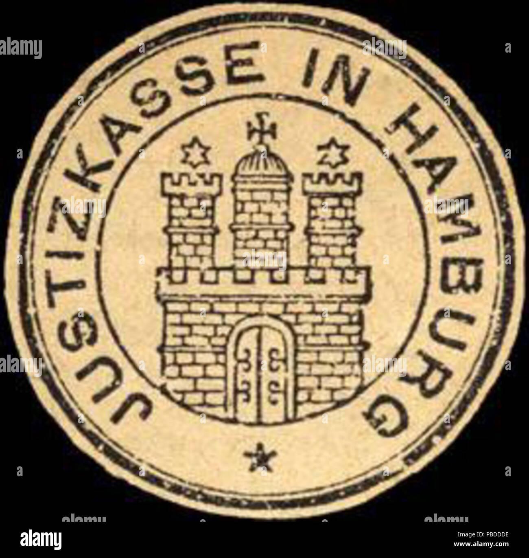 1403 Siegelmarke Justizkasse in Hamburg W0205574