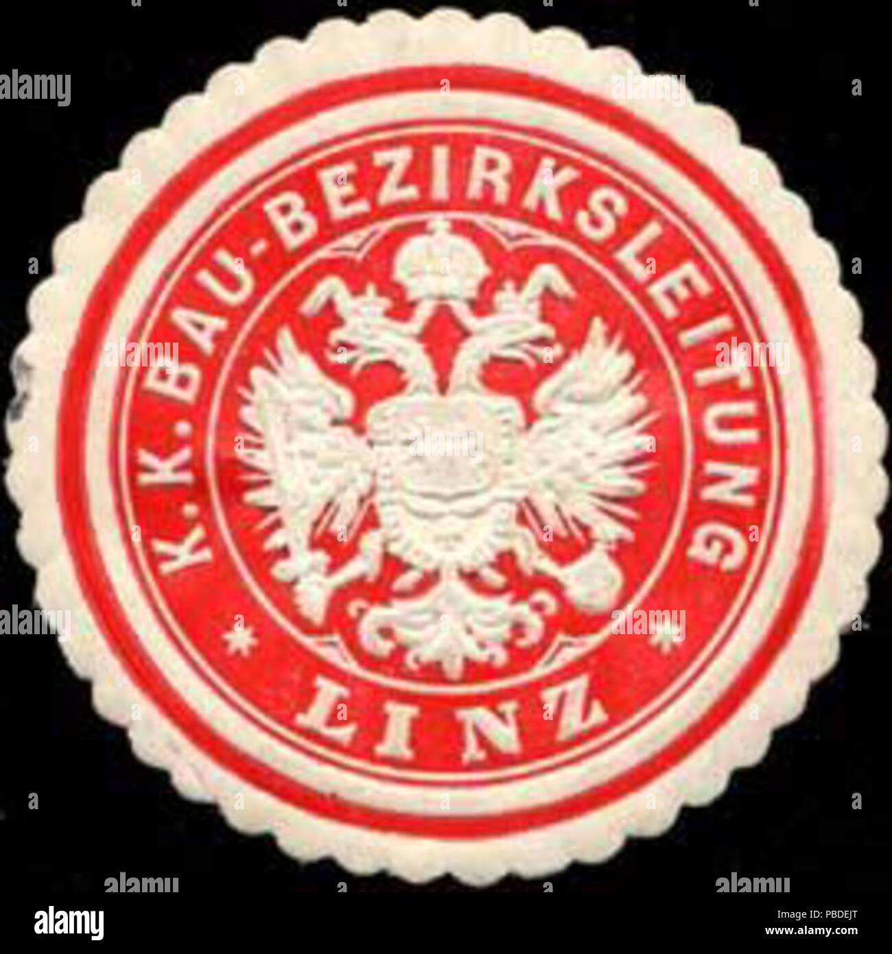 1419 Siegelmarke K.K. Bau-Bezirksleitung Linz W0316975