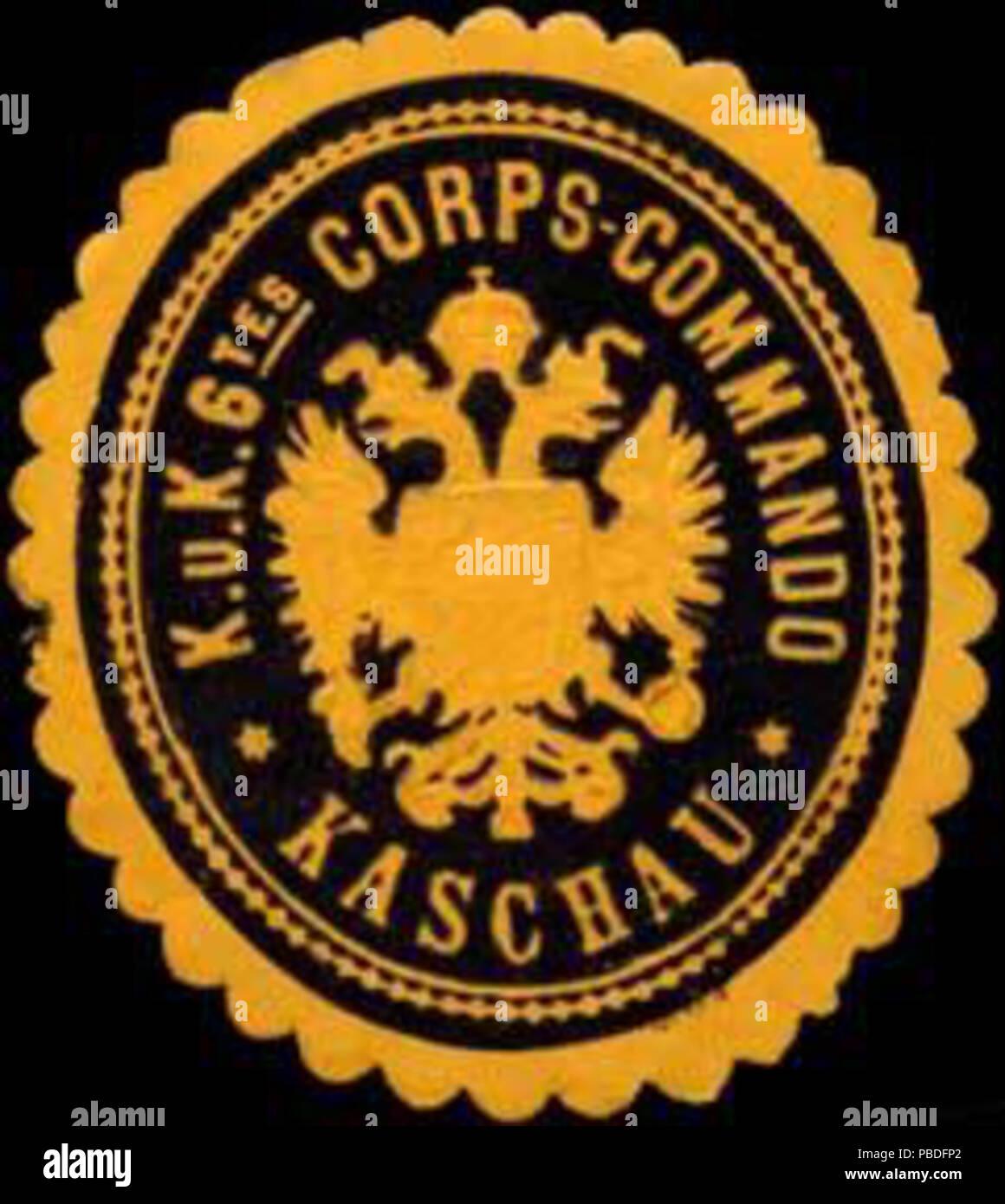 1434 Siegelmarke K.u.K. 6tes Corps-Commando Kaschau W0317161