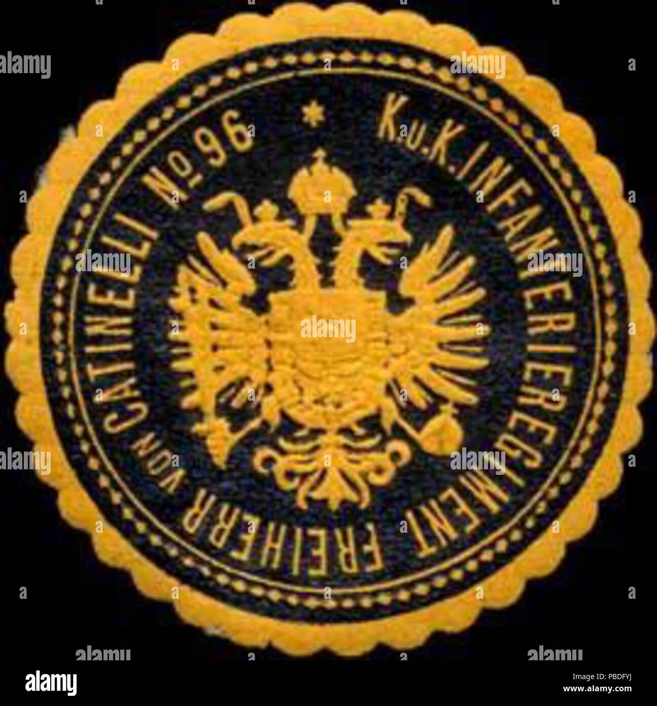 1435 Siegelmarke K.u.K. Infanterieregiment Freiherr von Catinelli No. 96  W0317116
