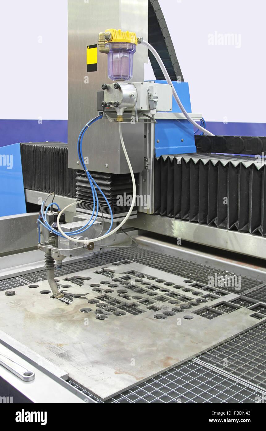 Abrasive Water Jet Cutting Machine Stock Photos & Abrasive Water Jet
