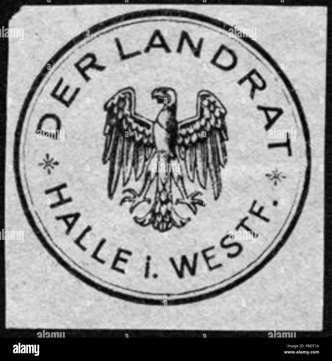 1339 Siegelmarke Der Landrat - Halle in Westfalen W0229046