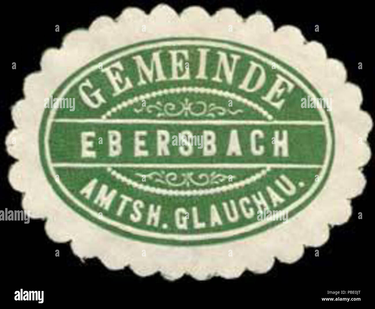 1363 Siegelmarke Gemeinde Ebersbach - Amtshauptmannschaft Glauchau W0253639