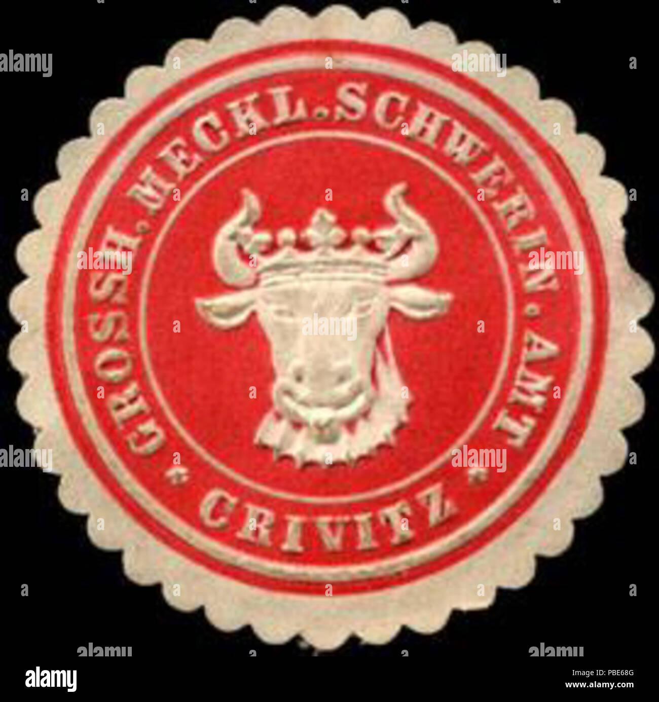 1395 Siegelmarke Grossherzoglich Mecklenburgisch Schweriner Amt - Crivitz W0220619 - Stock Image