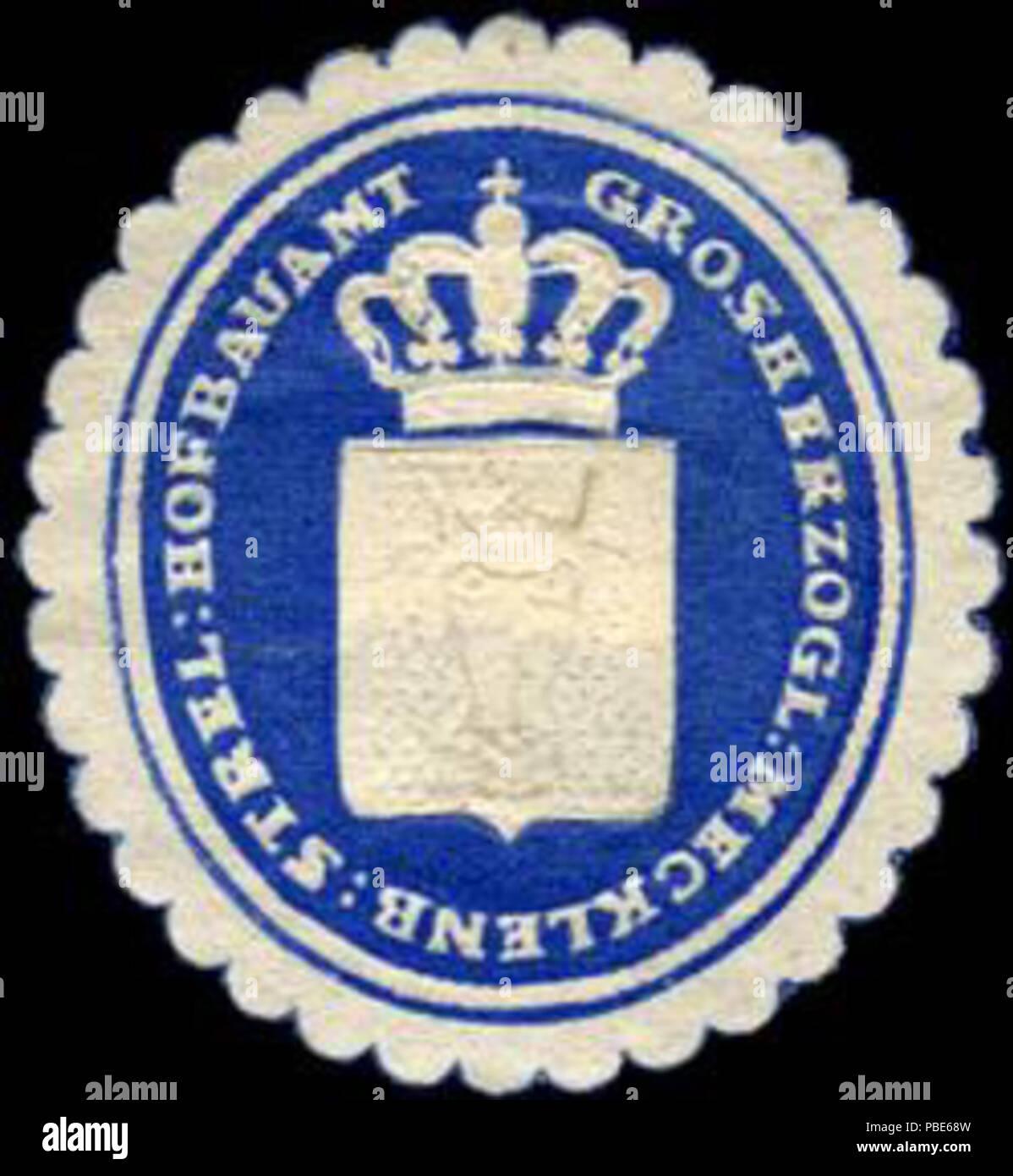 1395 Siegelmarke Grossherzoglich Mecklenburgisch Strelitzer Hofbauamt W0204606 - Stock Image