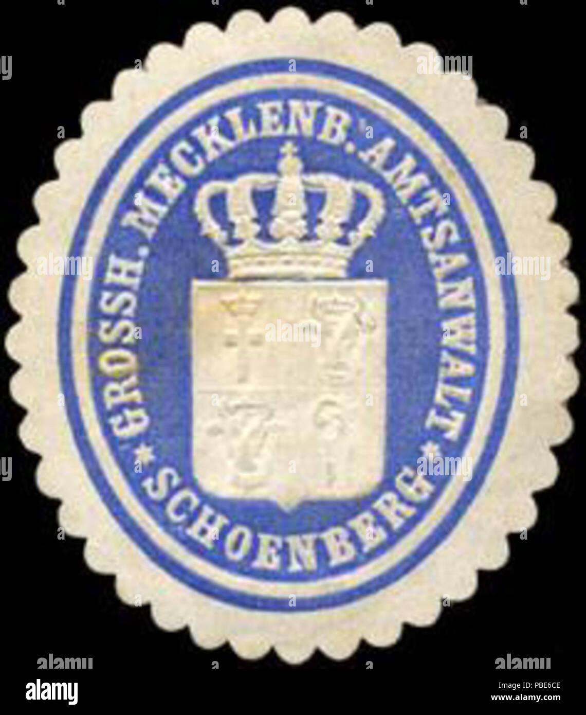 1396 Siegelmarke Grossherzoglich Mecklenburgischer Amtsanwalt - Schoenberg W0204586 Stock Photo