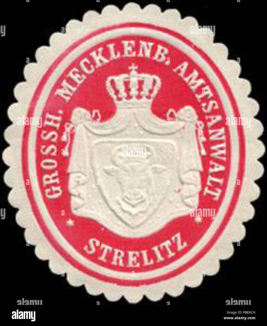 1396 Siegelmarke Grossherzoglich Mecklenburgischer Amtsanwalt - Strelitz W0214897 Stock Photo