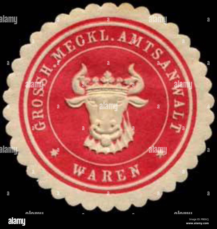 1396 Siegelmarke Grossherzoglich Mecklenburgischer Amtsanwalt - Waren W0255403 Stock Photo