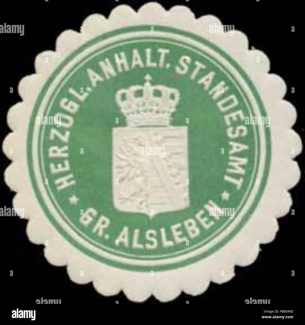 1398 Siegelmarke H. Anhalt. Standesamt Gr. Alsleben W0354691
