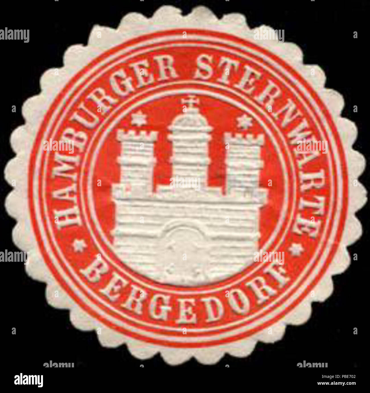 1399 Siegelmarke Hamburger Sternwarte - Bergedorf W0232606 Stock Photo