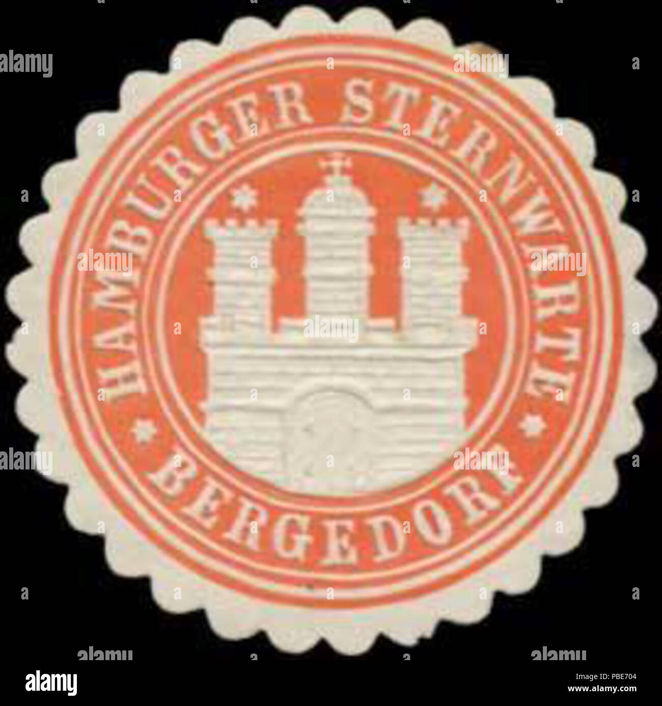 1399 Siegelmarke Hamburger Sternwarte Bergedorf W0384208 Stock Photo