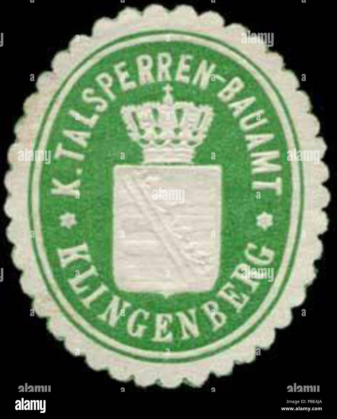 1417 Siegelmarke K. Talsperren-Bauamt-Klingenberg W0253893 Stock Photo