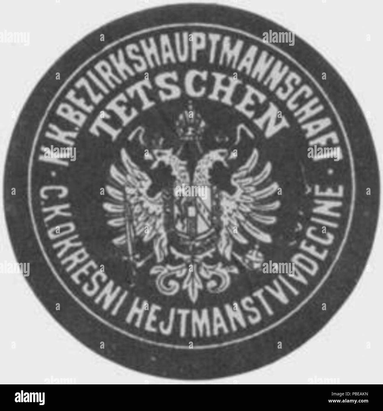 1419 Siegelmarke K.K. Bezirkshauptmannschaft Tetschen W0358476