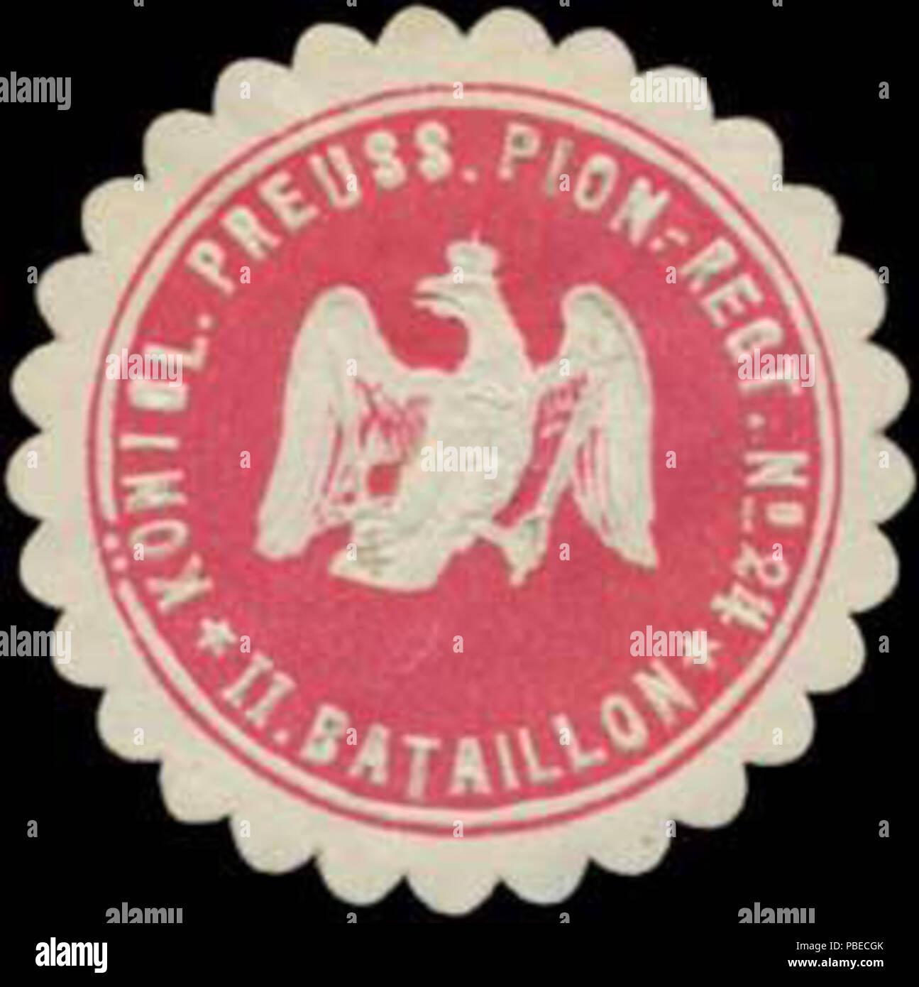 1429 Siegelmarke K.Pr. Pionier-Regiment No. 24 W0363879