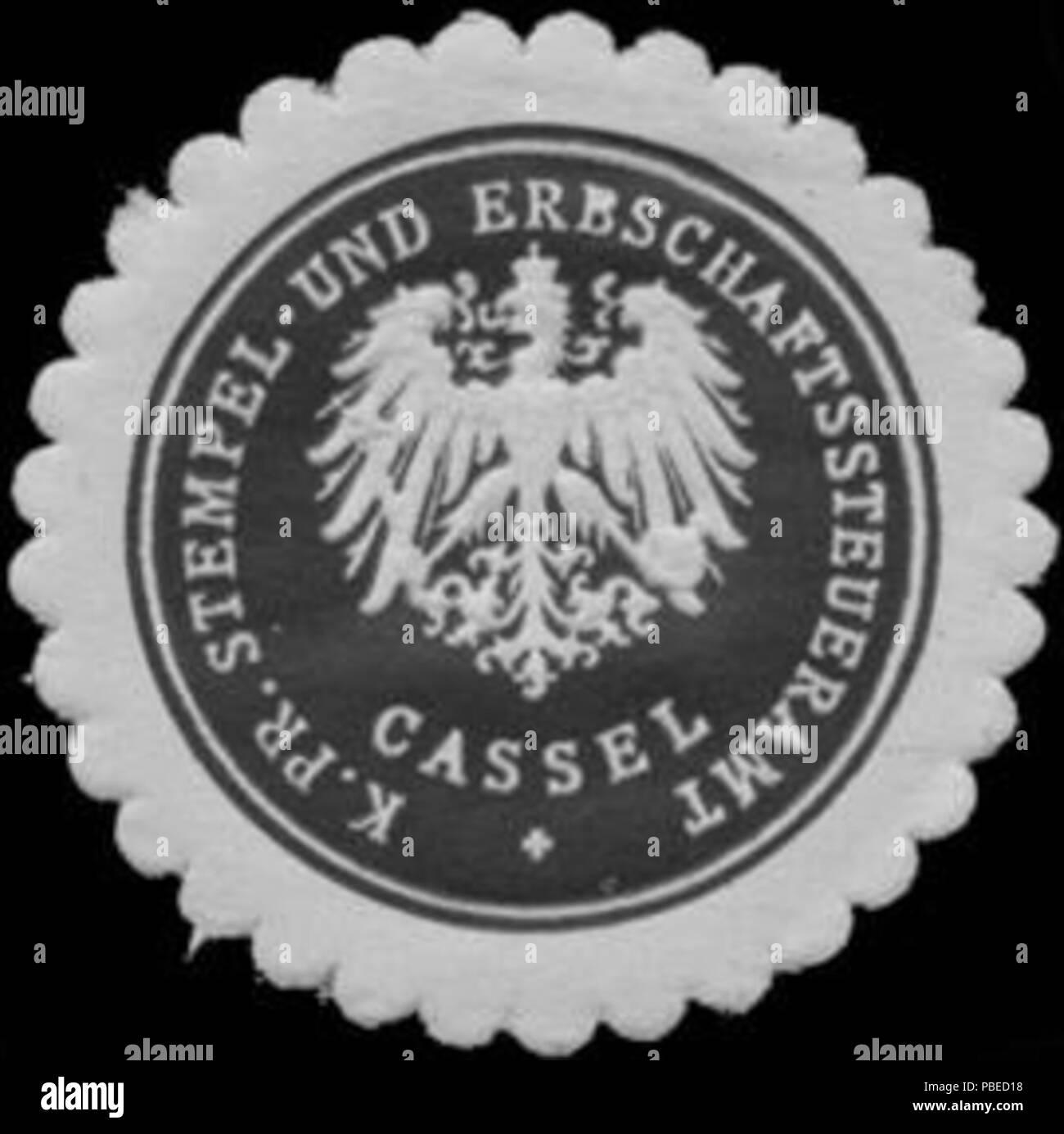 1430 Siegelmarke K.Pr. Stempel- und Erbschaftssteueramt Kassel W0343743 - Stock Image