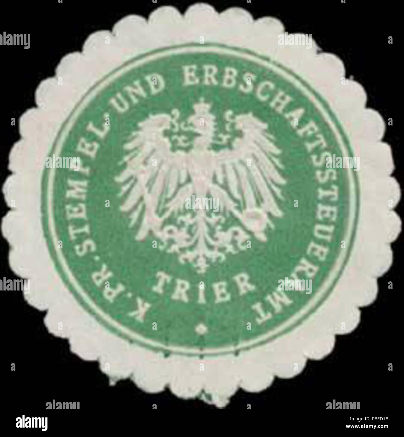 1430 Siegelmarke K.Pr. Stempel- und Erbschaftssteueramt Trier W0386162 - Stock Image